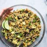 Quinoa Chickpea Avocado Salad with Black Beans