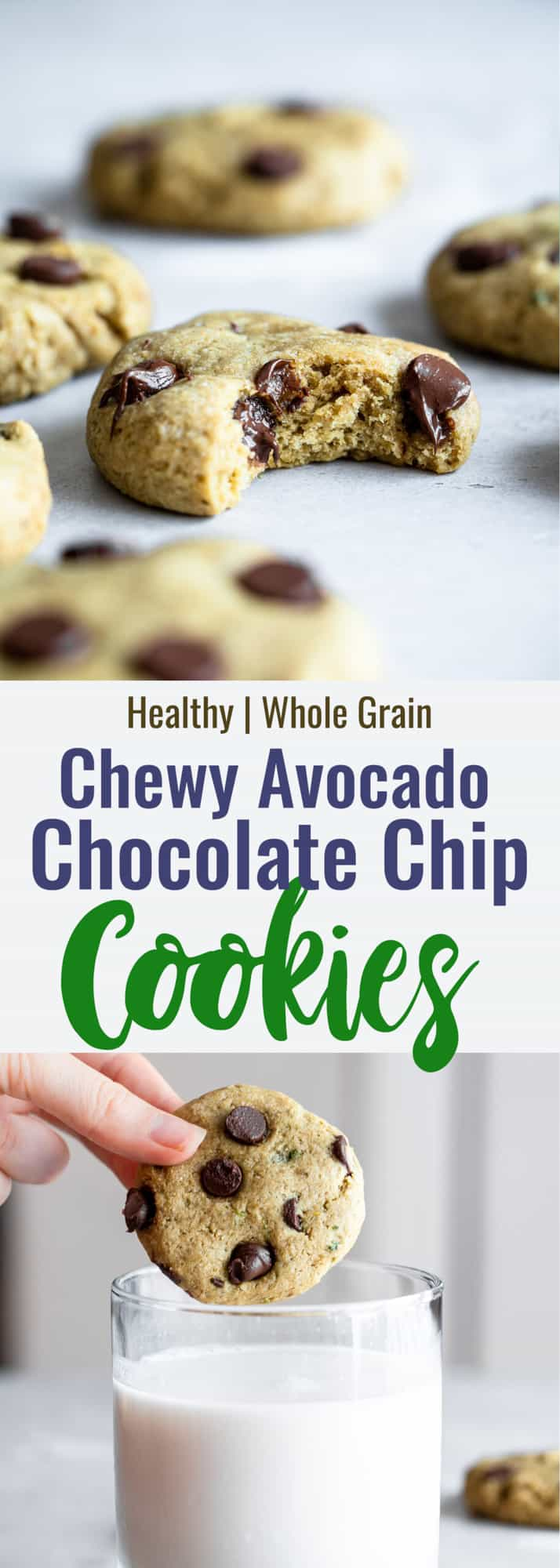 Healthy Chocolate Chip Cookies collage photo