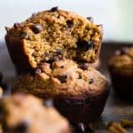 Healthy Gluten Free Sweet Potato Muffins with Chocolate Chips