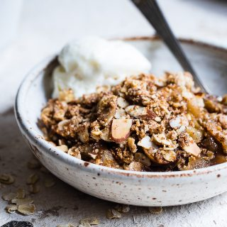 Easy Vegan Gluten Free Apple Crisp Crumble