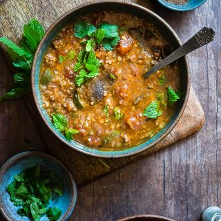 Moroccan Instant Pot Hearty Vegetable Beef Soup