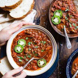 No Bean Whole30 Keto Chili in the Instant Pot