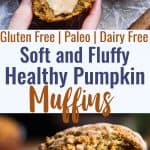 Gluten Free Paleo Pumpkin Muffins -These quick and easy, healthy almond flour pumpkin muffinsare SO spicy-sweet and FLUFFY! A yummy, fall breakfast or snack that kids or adults will LOVE! | #Foodfaithfitness | #Glutenfree #Paleo #Healthy #Pumpkin #Muffins