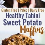 Gluten Free Spiced Chocolate Chip Sweet Potato Muffins - These healthy gluten free sweet potato muffins arepacked with spicy-sweetness and lots of chocolate chips! Paleo friendly, made in one bowl and SO fluffy! | #Foodfaithfitness | #Glutenfree #Healthy #Paleo #Dairyfree #Muffins
