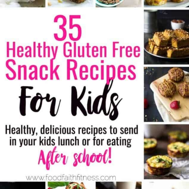 35 Gluten Free Healthy Snacks for Kids - All 35 of these kid friendly, gluten free and healthy snacks recipes are quick, easy and great for lunchboxes or busy afternoons! Even adults will love these recipes! | #Foodfaithfitness | #Glutenfree #Healthy #Snacks #Kidfriendly