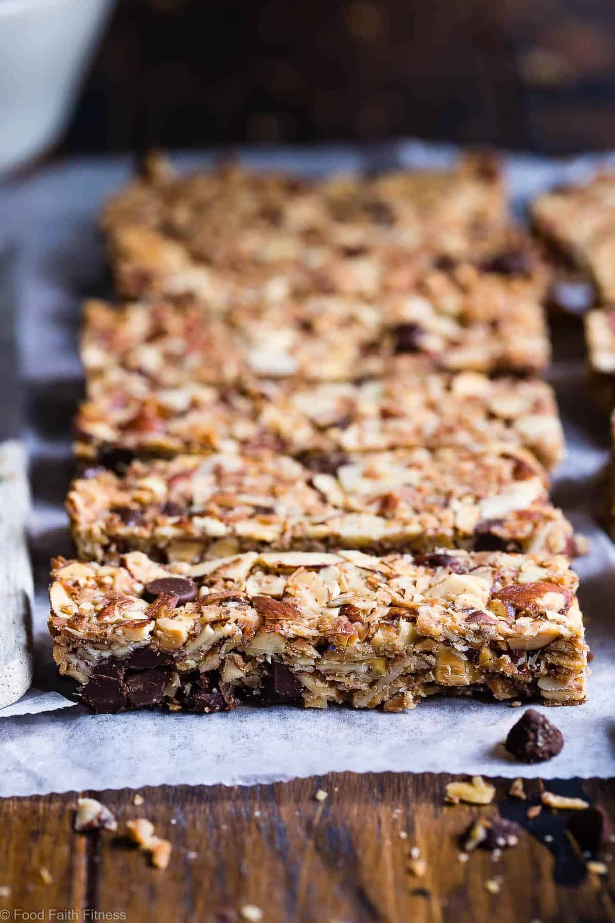 Sugar Free Keto Low Carb Granola Bars Recipe - This keto granola bar recipe is only 7 simple ingredients and tastes like an Almond Joy! Kids or adults will LOVE these and they're portable and freeze great too! | #Foodfaithfitness | #Keto #Glutenfree #Paleo #Dairyfree #Sugarfree