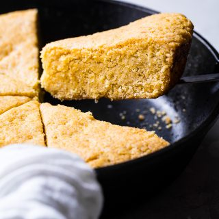 Easy Sweet Vegan Cornbread with Applesauce
