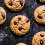 Pumpkin Spice Eggless Chocolate Chip Cookies