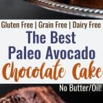 The Best Paleo Chocolate Avocado Cake - This dairy and gluten free Chocolate cake is SO fluffy and moist you'll never believe it's butter/oil free and made with avocado! The BEST healthy chocolate cake you will ever have! | #Foodfaithfitness | #Paleo #Grainfree #Dairyfree #Healthy #cake