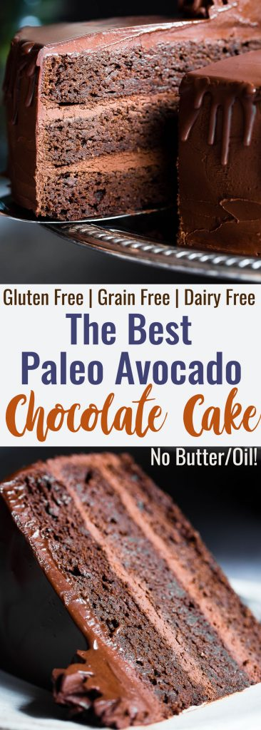 The Best Paleo Chocolate Avocado Cake -This dairy and gluten free Chocolate cake is SO fluffy and moist you'll never believe it's butter/oil free and made with avocado! The BEST healthy chocolate cake you will ever have!   #Foodfaithfitness   #Paleo #Grainfree #Dairyfree #Healthy #cake