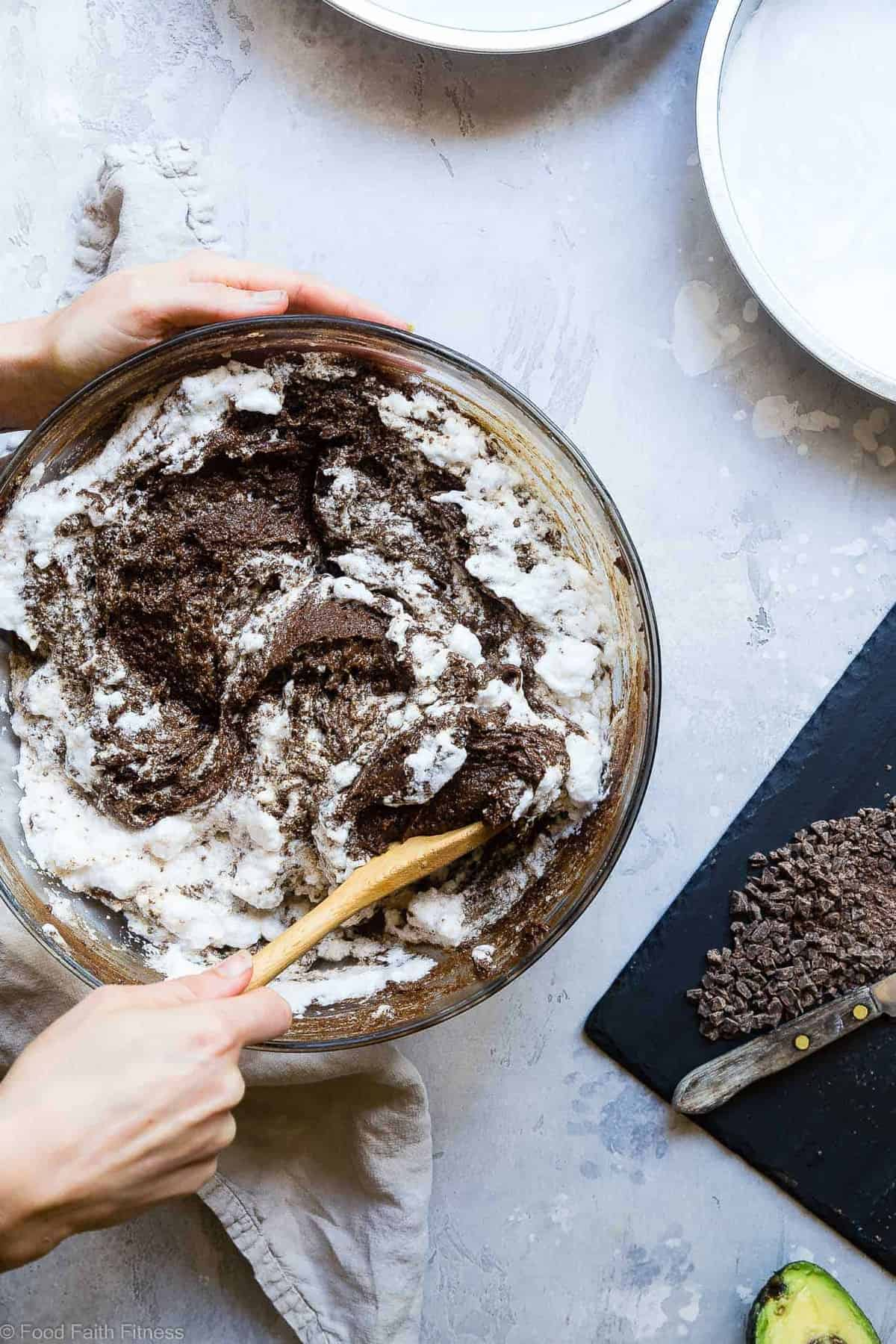 The Best Paleo Chocolate Avocado Cake with Coconut Flour - This dairy and gluten free Chocolate avocado cake recipe is SO fluffy and moist you'll never believe it's butter/oil free and made with avocado! The BEST healthy chocolate cake you will ever have! | #Foodfaithfitness | #Paleo #Grainfree #Dairyfree #Healthy #cake