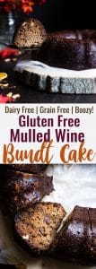 Gluten Free Mulled Wine cake -Thisbetter for you red wine cake has all the spicy, cozy flavors of the classic holiday drink! It's gluten/grain/dairy free and BOOZY! What more could you want? | #Foodfaithfitness | #Glutenfree #Grainfree #Dairyfree #Mulledwine #Cake