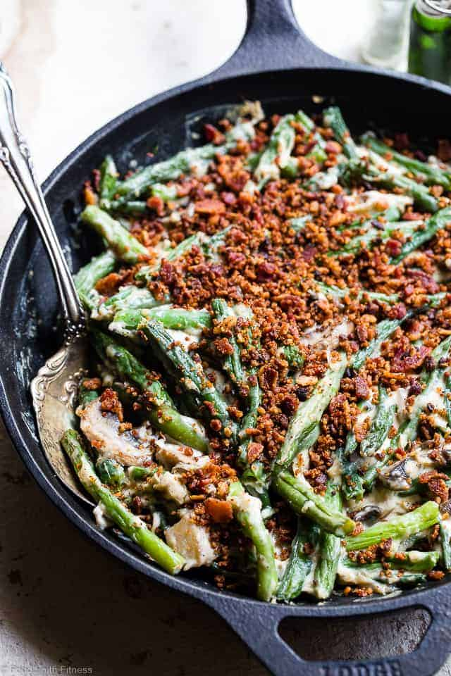 Low Carb Keto Green Bean Casserole Food Faith Fitness