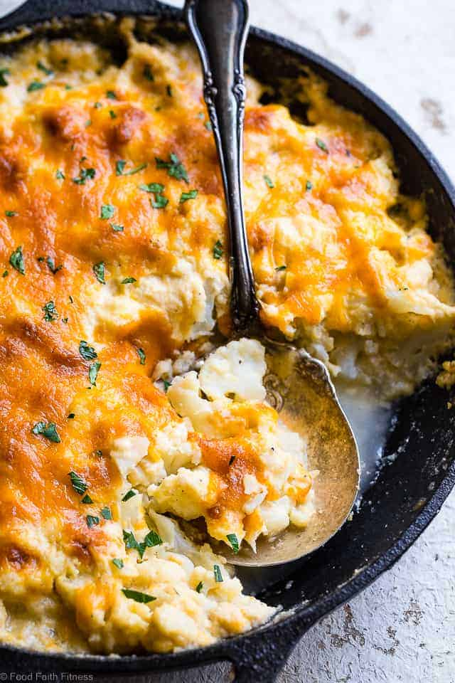Low Carb Baked Cauliflower Au Gratin