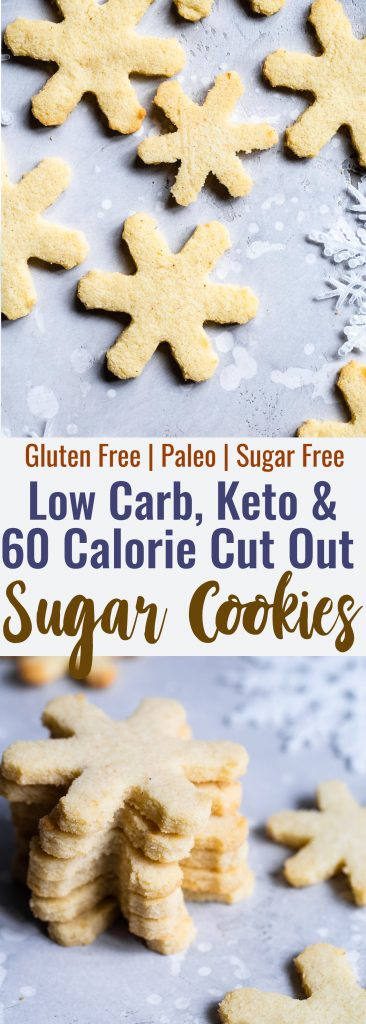 Low Carb Keto Sugar Cookies -These Sugar Free Sugar Cookiesactually hold their shape and are so easy to make! No one will know they're only 60 calories and gluten/grain/sugar free! | #Foodfaithfitness | #Lowcarb #Keto #Glutenfree #Grainfree #Paleo