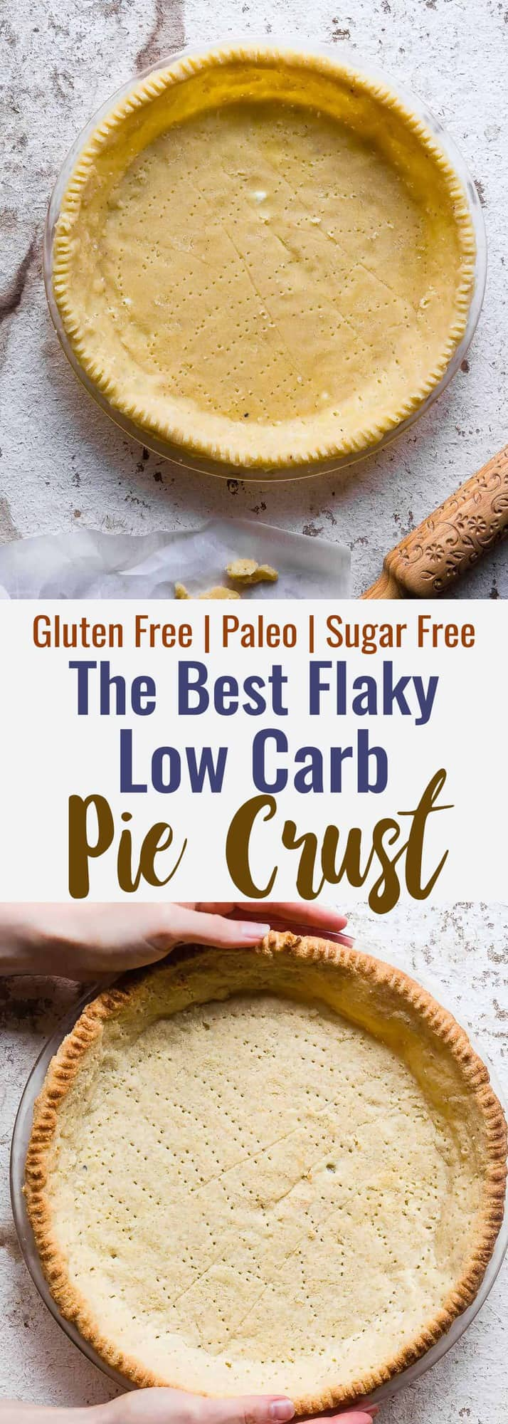 Low Carb Paleo Almond Flour Pie Crust - This is the BEST healthy pie crust ever! So tender, buttery and flaky that you will never know it's gluten free, sugar free and better for you! So easy to make too! | #Foodfaithfitness | #Glutenfree #Sugarfree #paleo #lowcarb #healthy