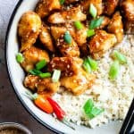 Paleo Easy Gluten Free Healthy Sesame Chicken