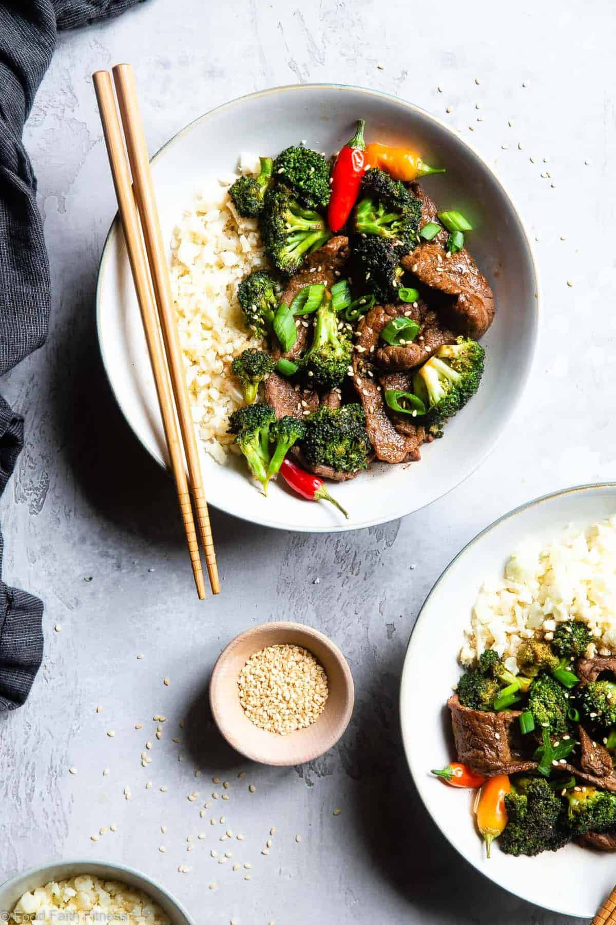 Easy Whole30 Low Carb Beef and Broccoli - This keto beef and broccoli is an EASY, one-pot weeknight meal that even picky eaters will love! So much yummier and healthier than takeout too! | #Foodfaithfitness |