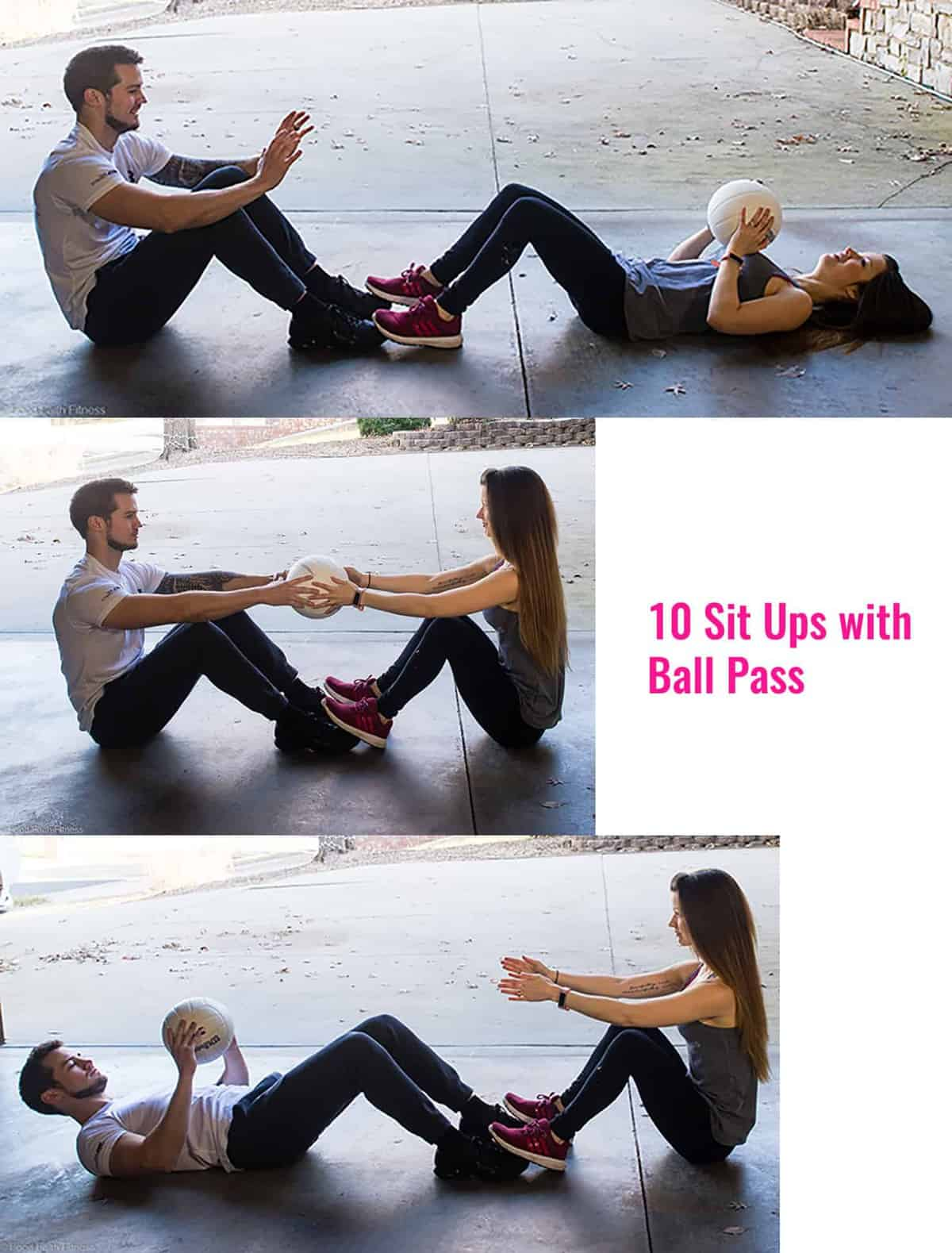 Quick At Home Partner Workout -This Quick, At Home Partner Workout is an easy way to get a workout in during busy seasons! Grab a partner and get your booty burning! | #Foodfaithfitness | #Workout #Fitness #Homeworkout #Healthy
