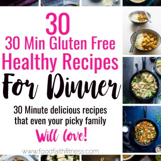 30 Gluten Free Healthy 30 Minute Meals - Need some healthy dinner recipes that are short on time, but will please even picky eaters? All 3o of these easy, gluten free recipes will fit the bill! One for every night of the week! | #Glutenfree #Healthy #Dinner #30MinuteMeal #Dairyfree