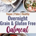 No Oats Paleo Oatmeal - This grain free oatmeal is an EASY, healthy recipe that you can make ahead for busy mornings! Loaded with healthy fat to keep you full too! | #Foodfaithfitness | #Glutenfree #dairyfree #paleo #grainfree #healthy