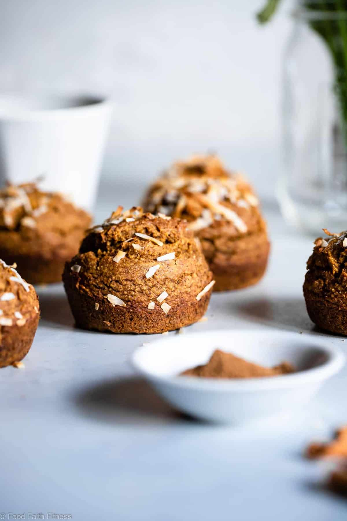 Sugar Free Gluten Free Oatmeal Carrot Muffins - These easy carrot muffins are naturally sweetened with dates and have a surprise, spicy-sweet kick! SO light and fluffy! Gluten free, healthy and tasty! | #Foodfaithfitness | #Glutenfree #Dairyfree #Healthy #Sugarfree #Muffins