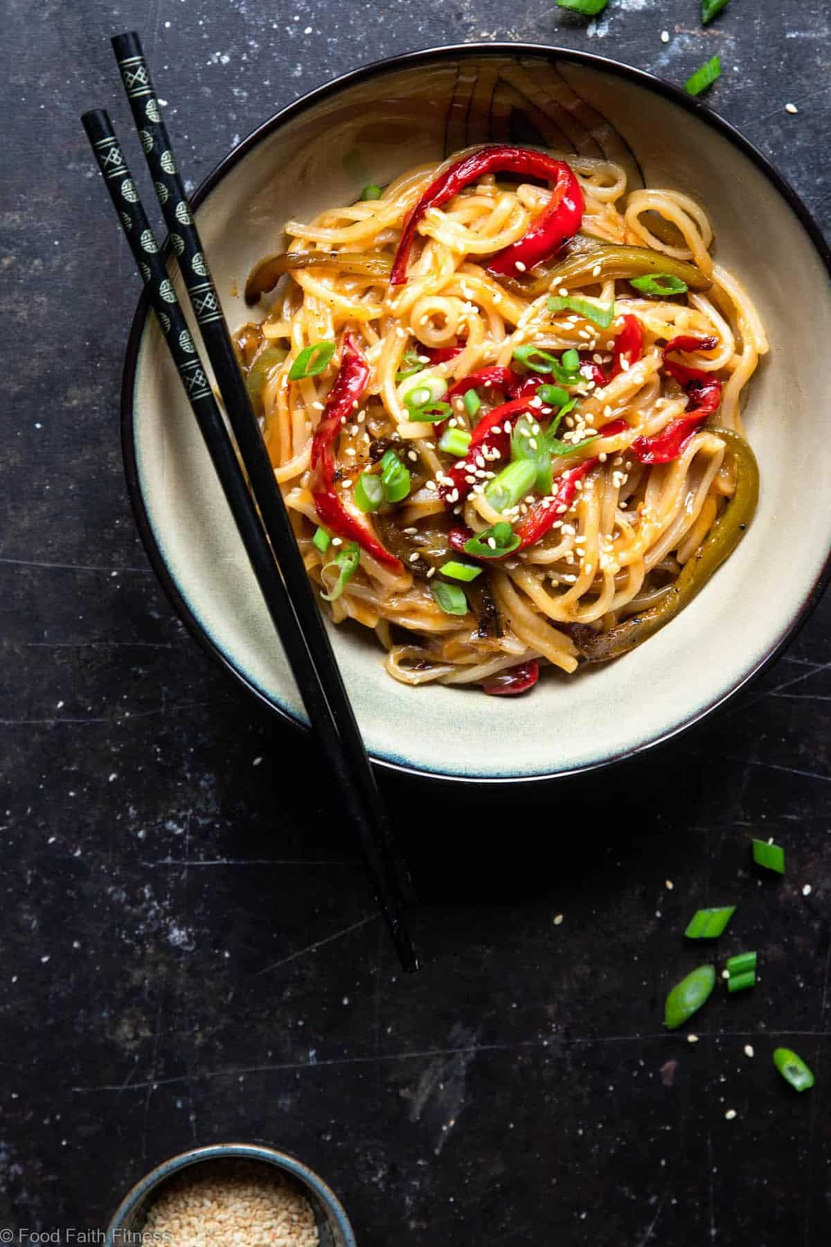 Honey Garlic Instant Pot Noodles - TheseAsian Instant Pot noodles are sticky, sweet and SO addicting! An EASY, gluten free dinner that even picky eaters will request! | #Foodfaithfitness | #glutenfree #InstantPot #healthy #dairyfree #vegetarian