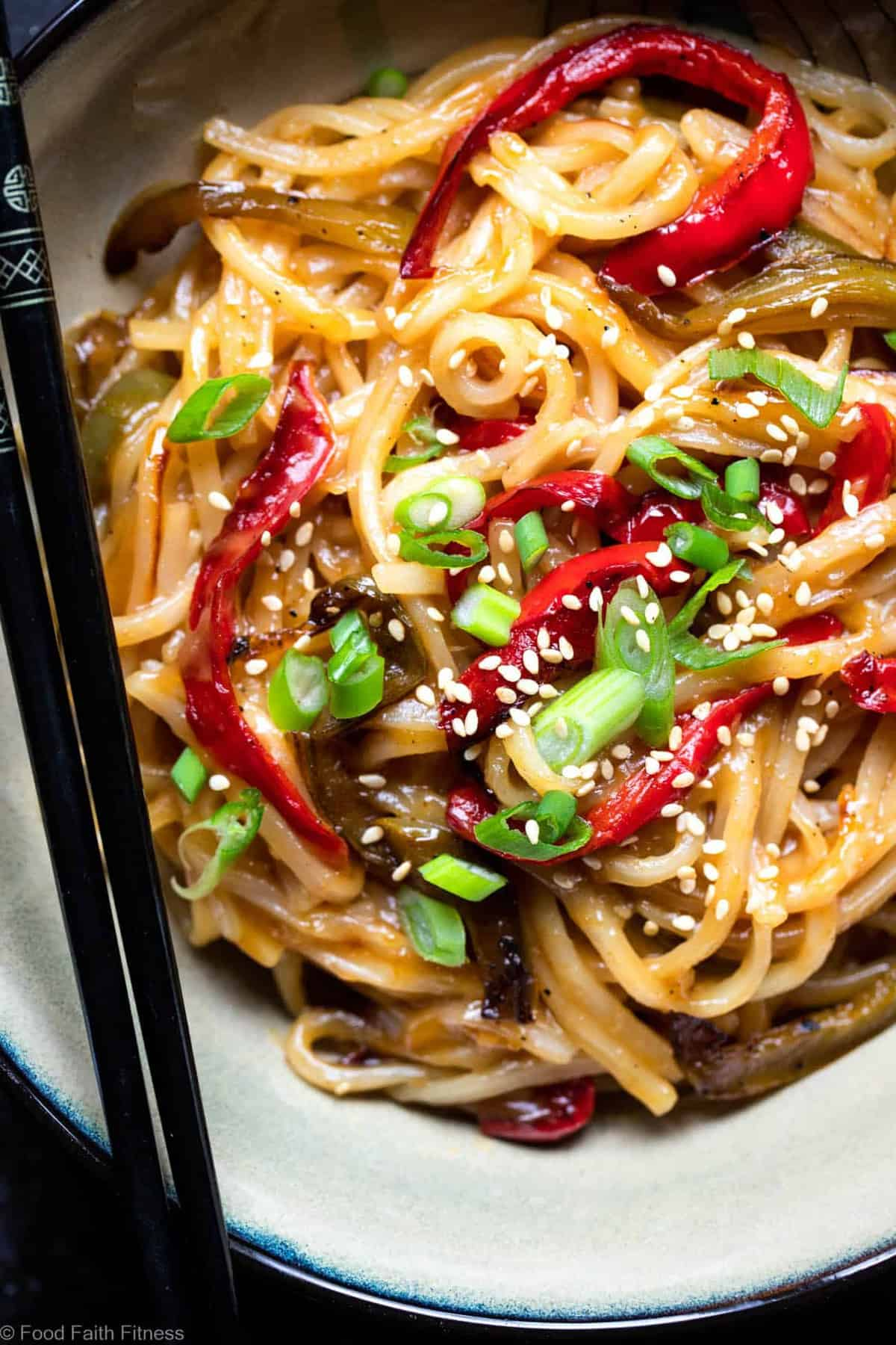 Honey Garlic Pressure Cooker Noodles - TheseAsian Instant Pot noodles are sticky, sweet and SO addicting! An EASY, gluten free dinner that even picky eaters will request! | #Foodfaithfitness |