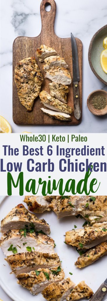 Easy Keto Chicken Marinade - This low carb, sugar free Chicken Marinade is the easiest and most versatile marinade for grilled chicken ever! Simple, made from pantry ingredients and gluten free/paleo/whole30! | #Foodfaithfitness | #glutenfree #paleo #lowcarb #keto #whole30