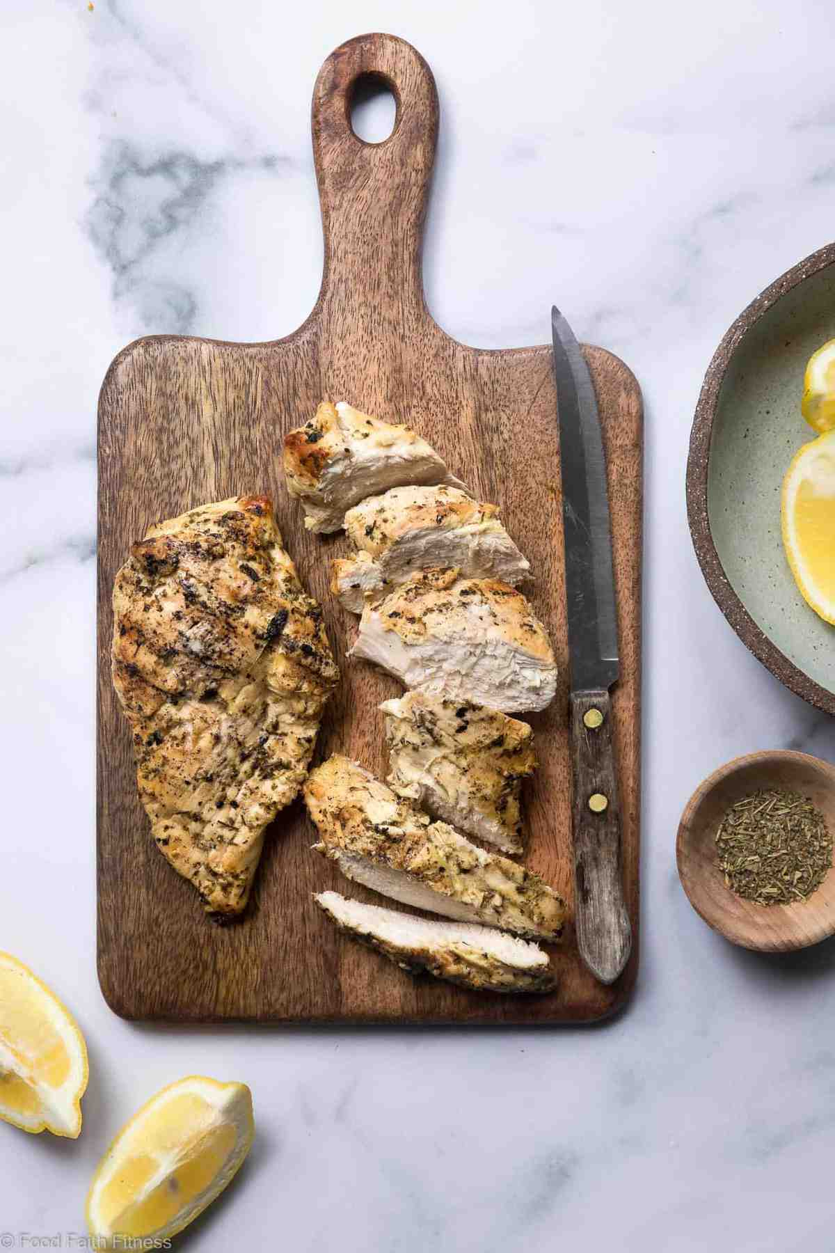 Easy Keto Gluten Free Marinade - This low carb, sugar free Chicken Marinade is the easiest and most versatile marinade for grilled chicken ever! Simple, made from pantry ingredients and gluten free/paleo/whole30! | #Foodfaithfitness |