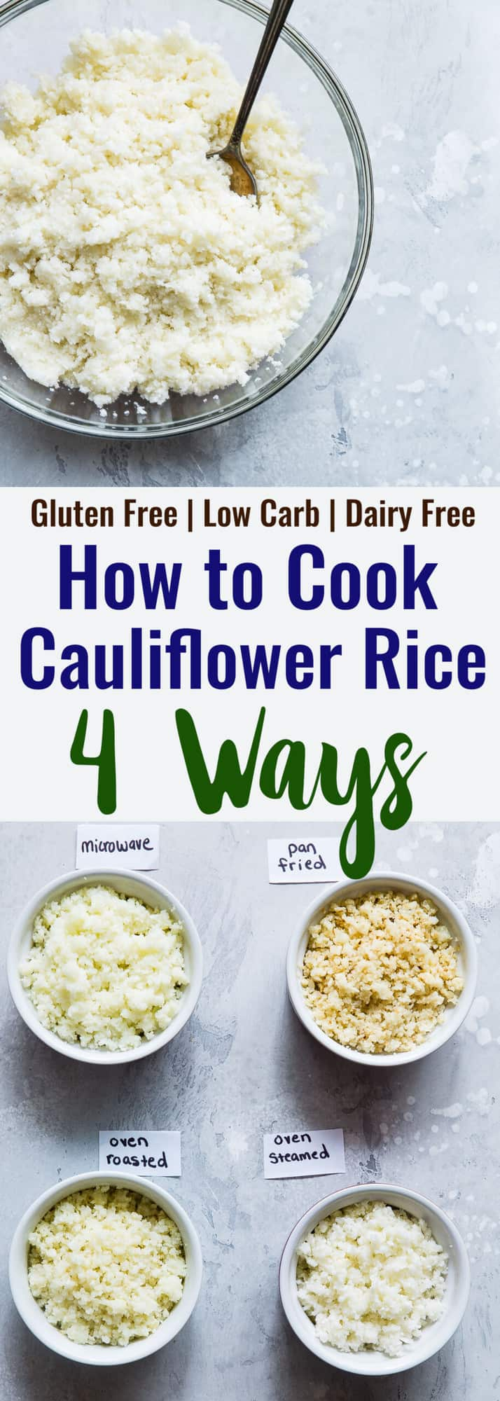 How to Cook Cauliflower Rice (9 Ways)  Food Faith Fitness