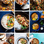 Collage image of slow cooker recipes