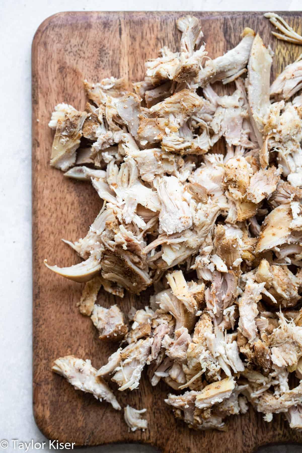 shredded chicken for healthy chicken chili