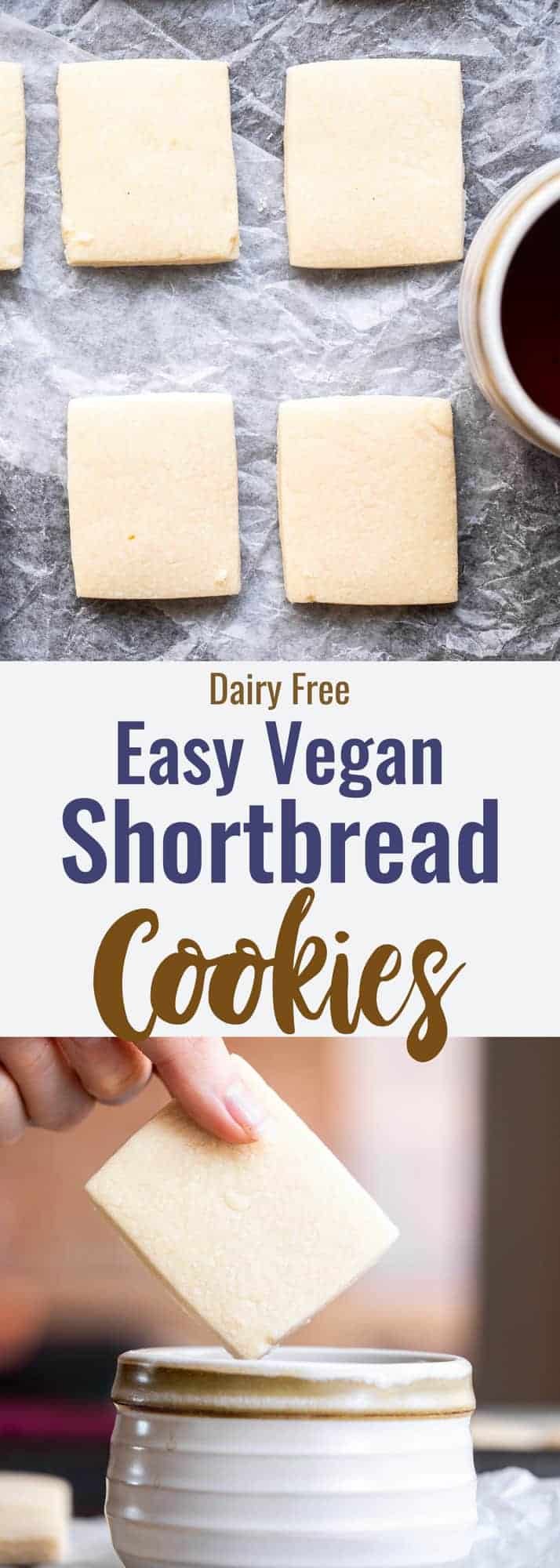 Dairy Free Vegan Shortbread Cookies Food Faith Fitness