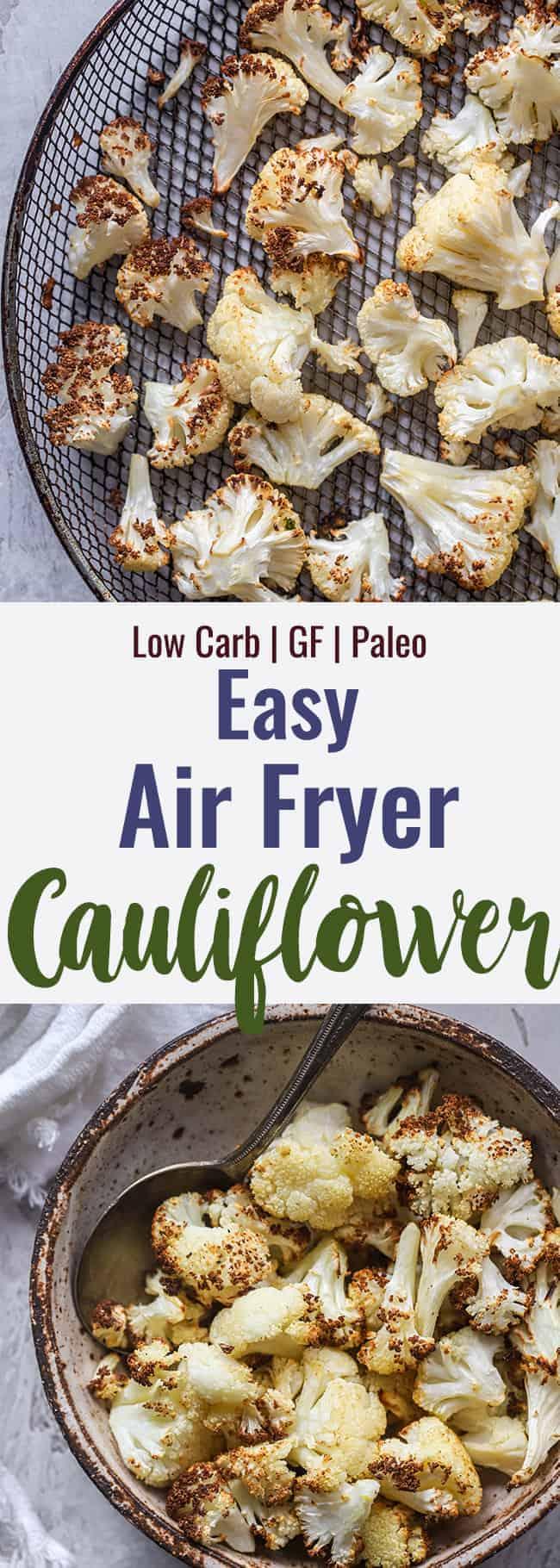 air fryer cauliflower collage photo