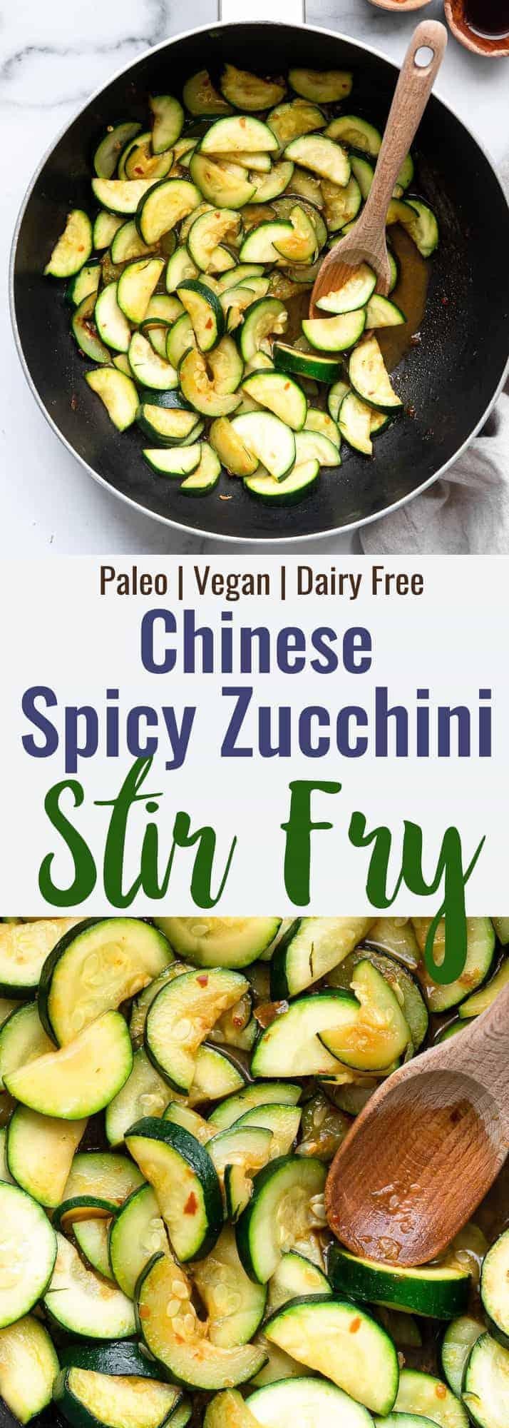 Zucchinistir fry collage photo