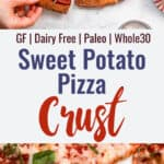 Sweet Potato pizza Crust collage photo