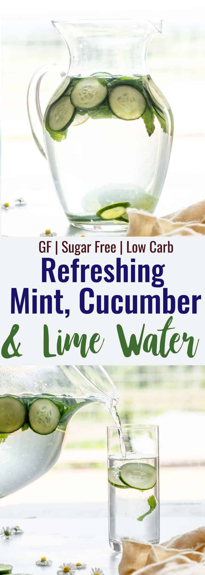 cucumber mint water collage photo