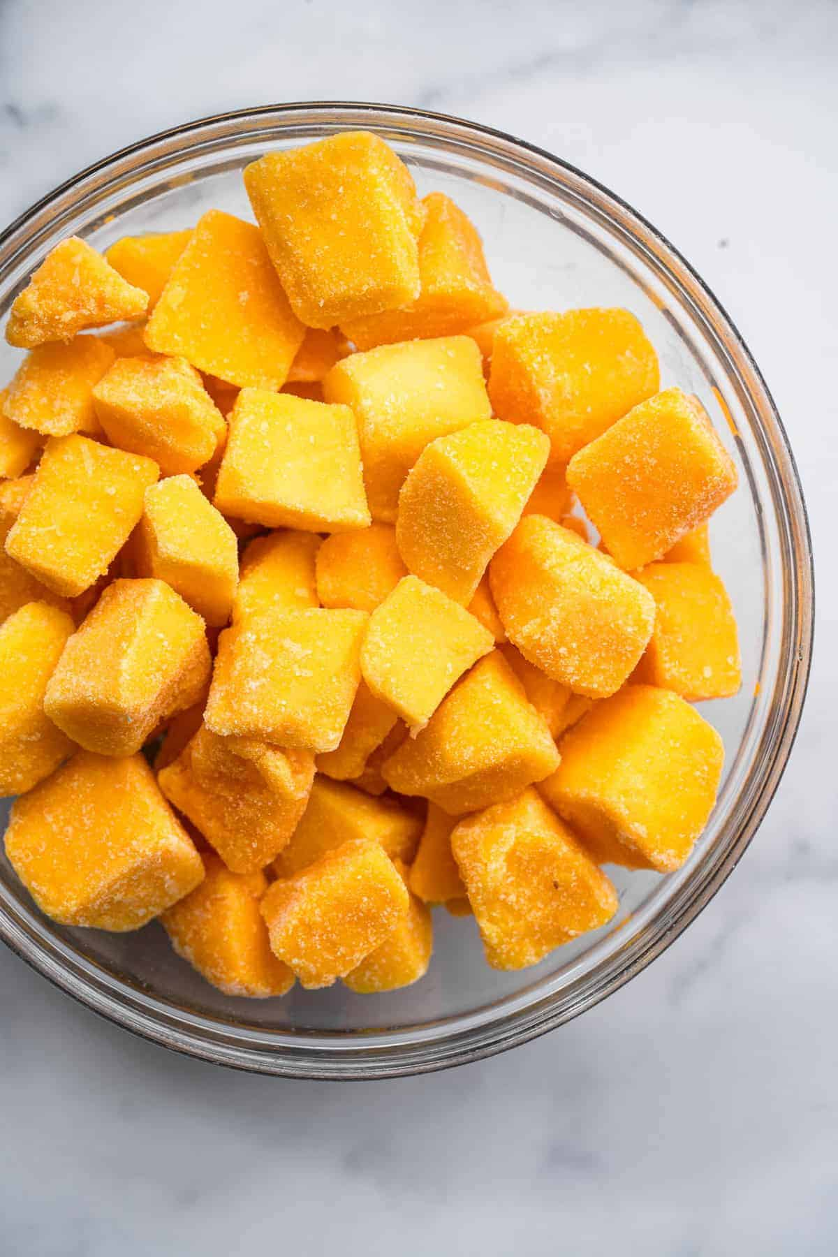 chunks of Frozen mango recipes