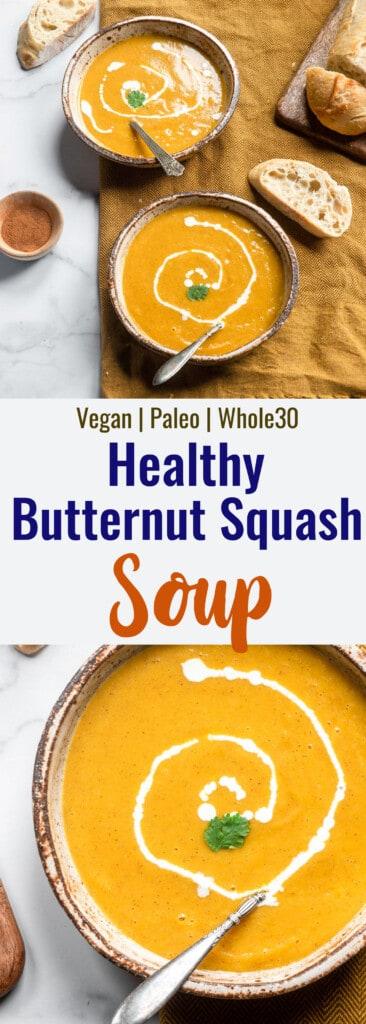 Instant Pot Butternut Squash Soup collage photo
