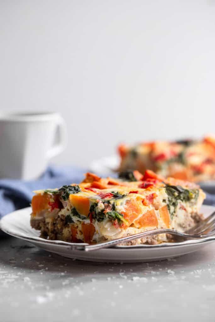 Whole30 Breakfast Casserole on a plate
