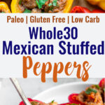 Whole30 Stuffed Peppers collage photo