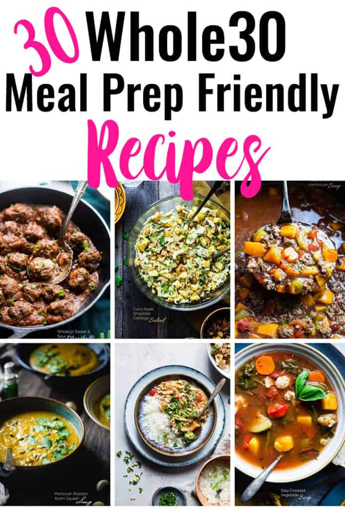 30+ Whole30 Meal Prep Recipes short collage photo