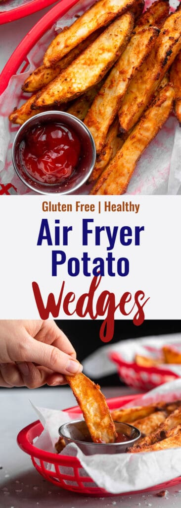 Air Fryer Potato Wedges collage photo