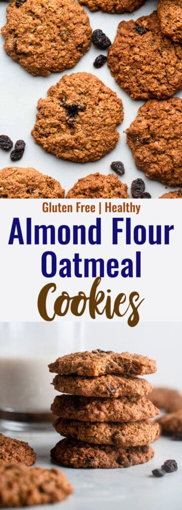 Almond Flour Oatmeal Cookies collage photo