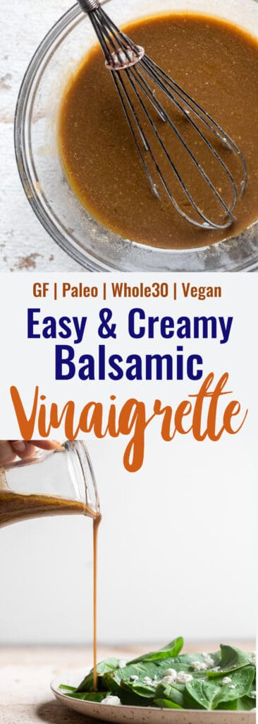Whole30 Balsamic Vinaigrette collage photo