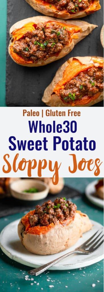 Whole30 Sloppy Joes collage photo