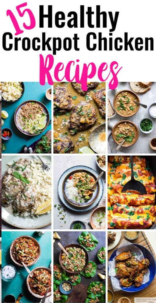 Healthy Crock Pot Chicken Recipes collage photo