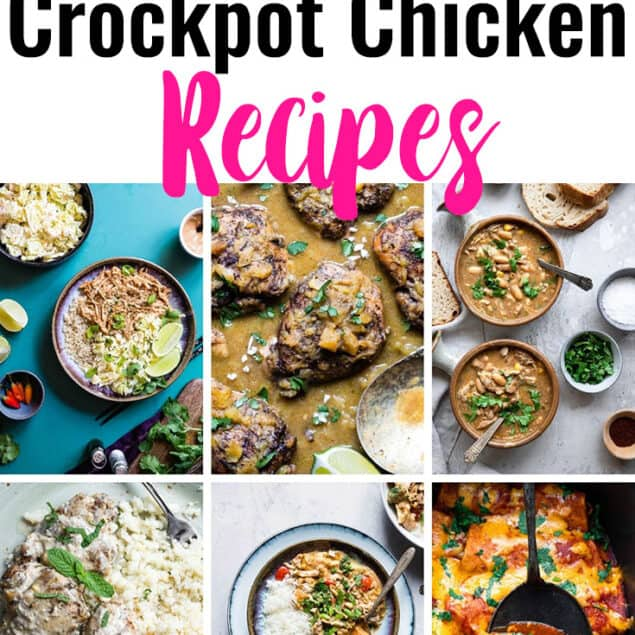 Healthy Crock Pot Chicken Recipes short collage photo