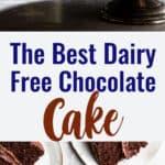 Dairy Free Chocolate Cake collage photo